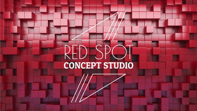 Bouncing red cubes Full HD video – шаблон для дизайну