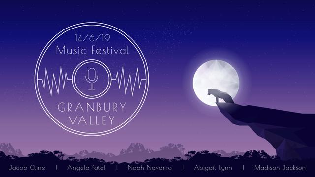 Plantilla de diseño de Wolf howling to the moon Full HD video