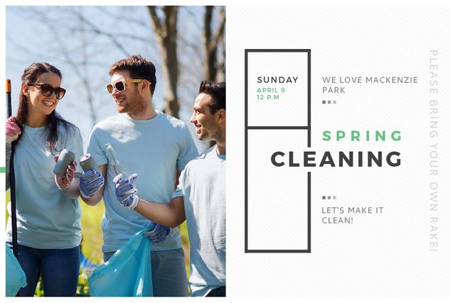 Spring Cleaning in Mackenzie park Gift Certificateデザインテンプレート