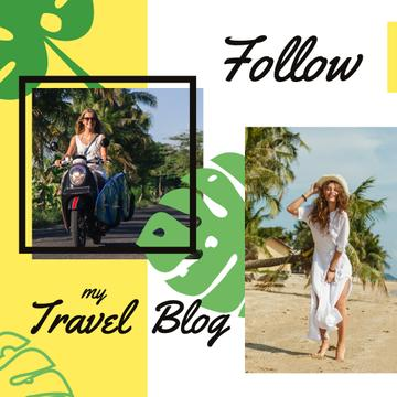 Travel Blog Promotion Woman at Seacoast  | Instagram Post Template