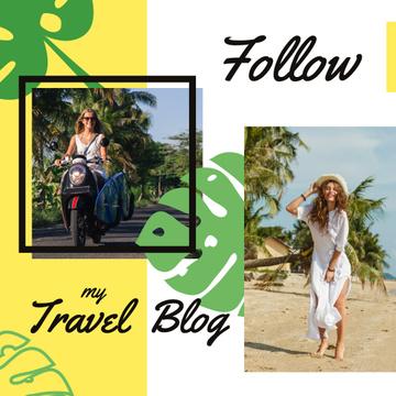 Travel Blog Promotion Woman at Seacoast