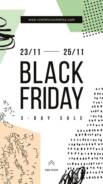 Black Friday Ad Colorful geometric pattern Instagram Storyデザインテンプレート