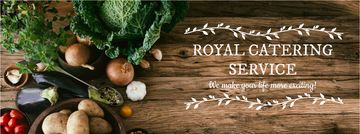 Catering Service Ad Vegetables on Table | Facebook Cover Template