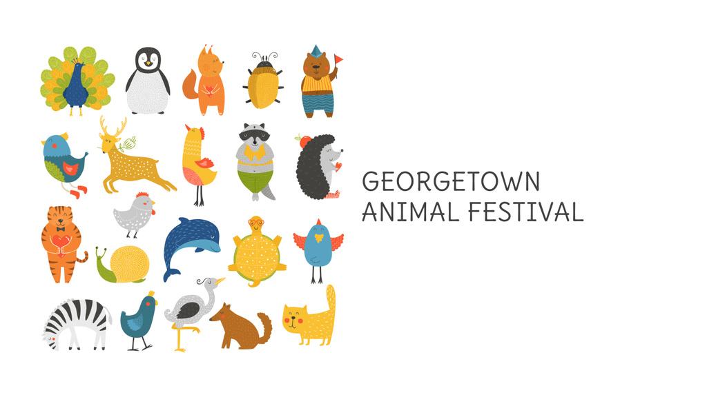 Animal Festival Announcement Animals Icons | Youtube Channel Art — Modelo de projeto