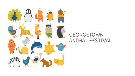 Template di design Animal Festival Announcement with Animals Icons Youtube