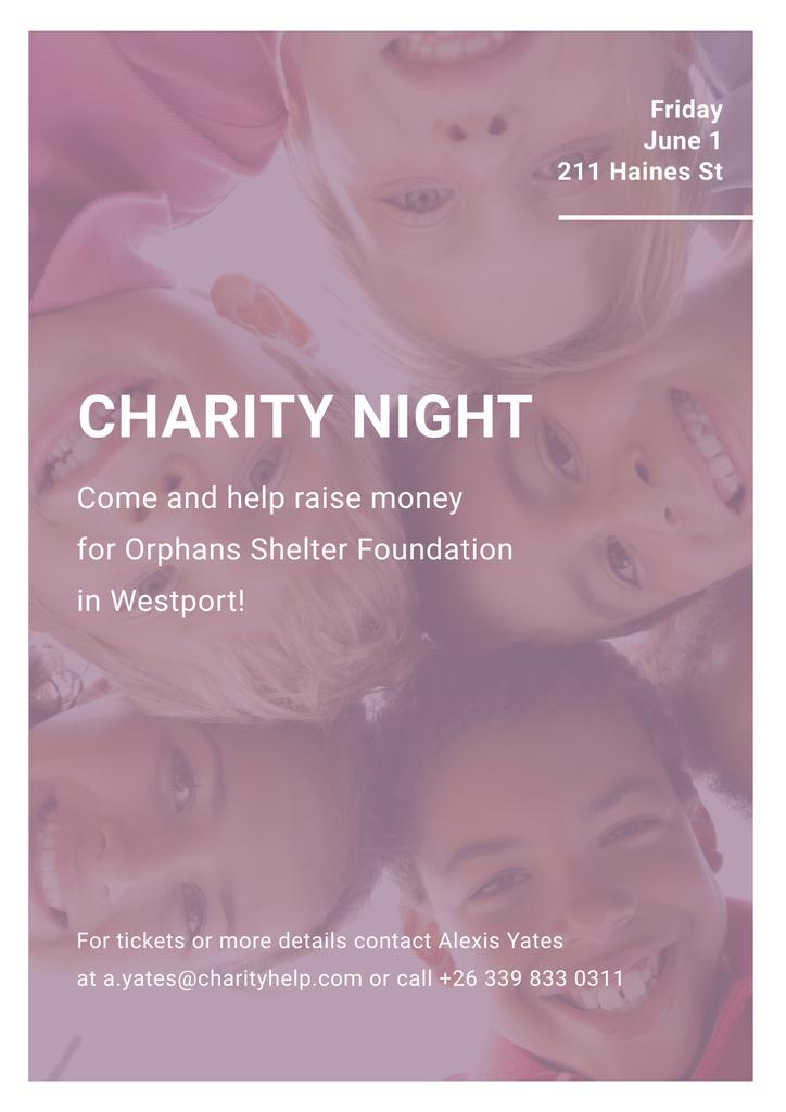 Corporate Charity Night Poster Design Template