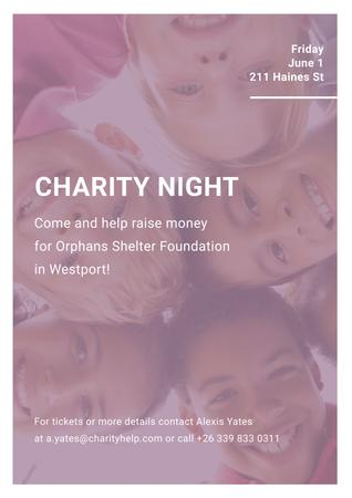 Plantilla de diseño de Corporate Charity Night Poster