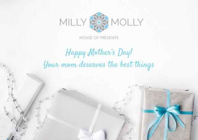Designvorlage Mother's day Offer with Gifts für Card