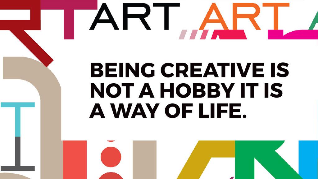 Creativity Quote on colorful Letters — Crea un design