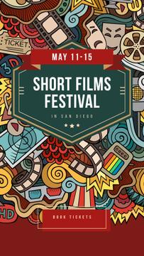 Film Festival Invitation Cinema Attributes Collage | Stories Template
