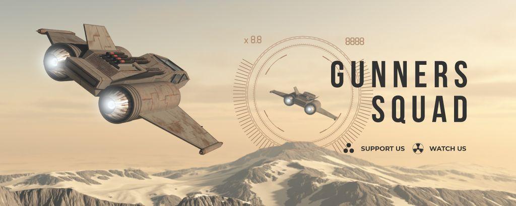 Game Stream with Space Ship — Crear un diseño
