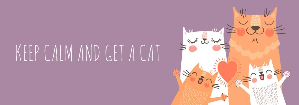 Keep calm and get a cat poster — ein Design erstellen