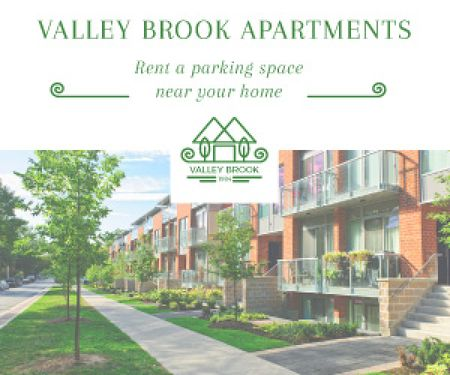 Valley brooks apartments advertisement Medium Rectangle Modelo de Design