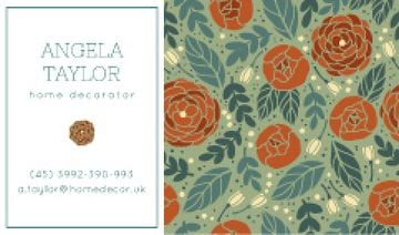 Decorator Contacts Roses Pattern
