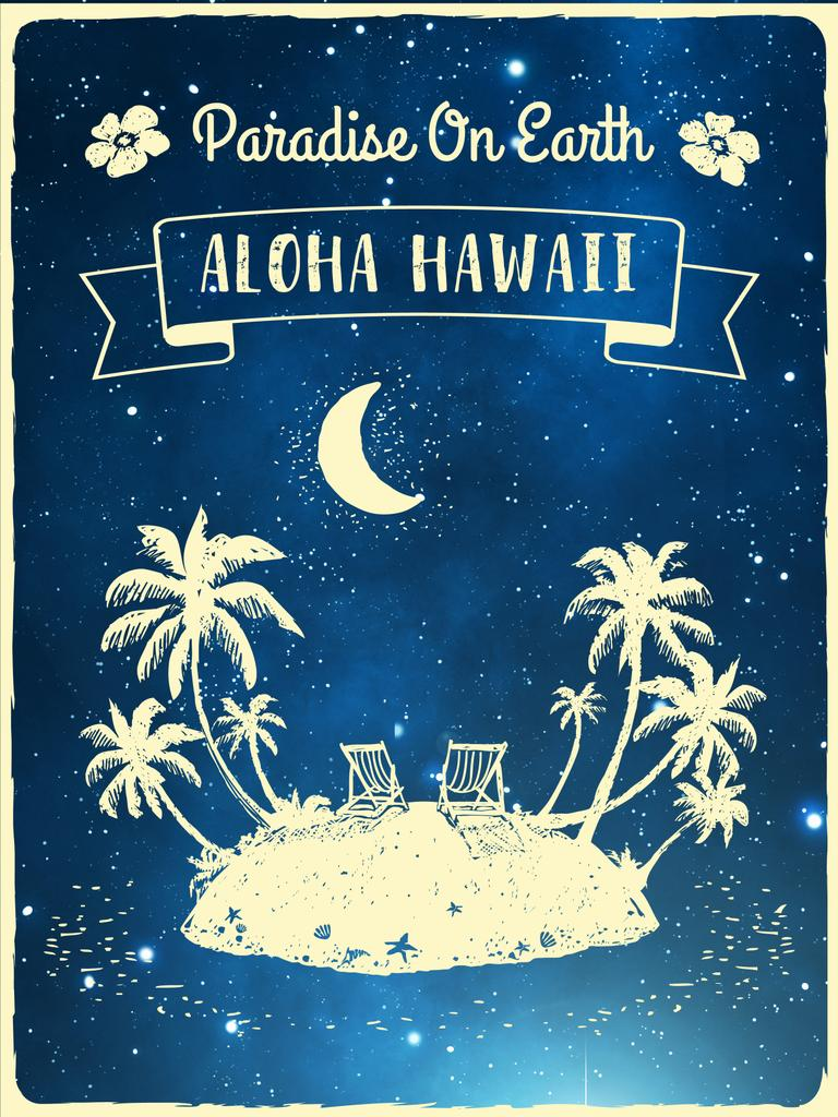 Hawaii travelling inspiration with Tropical island — Modelo de projeto