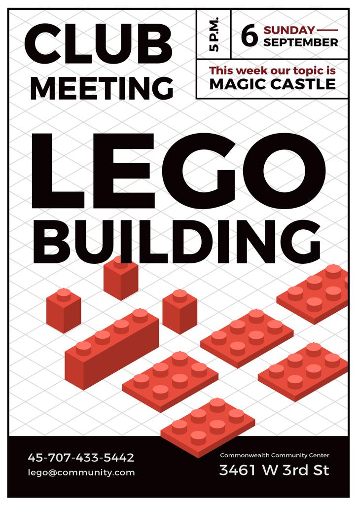 lego building club meeting poster poster template design online