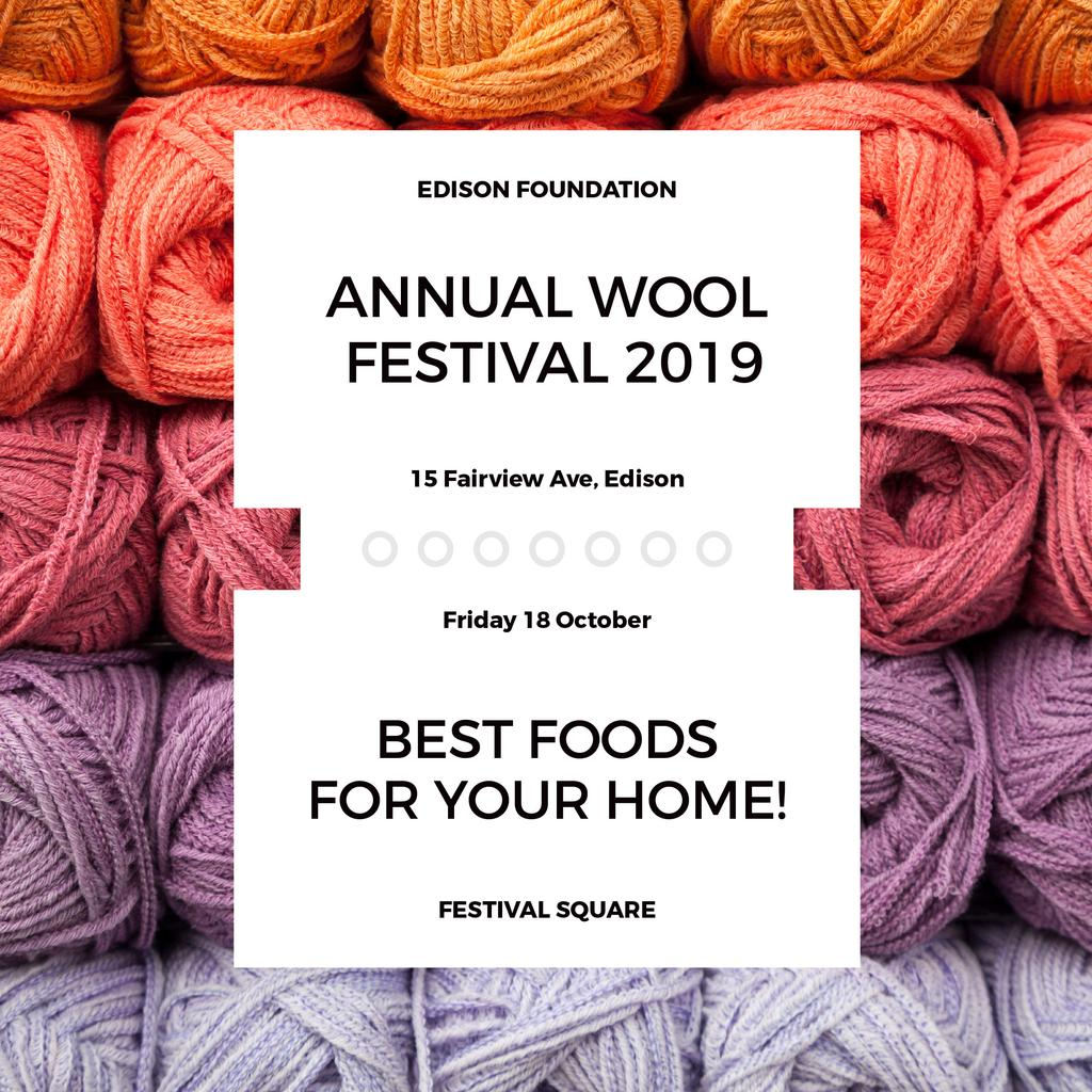 Annual wool festival 2019 — Create a Design
