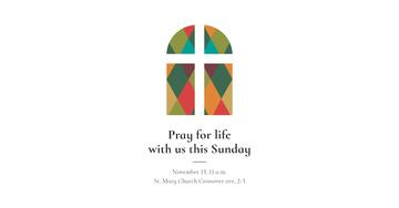 Invitation to Pray with Church Window illustration