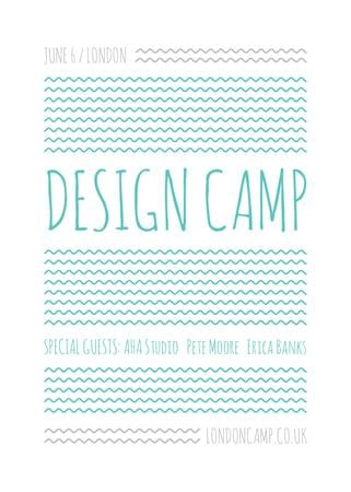 Modèle de visuel Design camp announcement on Blue waves - Flayer