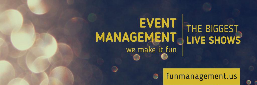 Event management live shows advertisement — Modelo de projeto