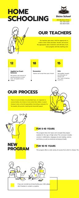 Modèle de visuel Education infographics about Home schooling - Infographic