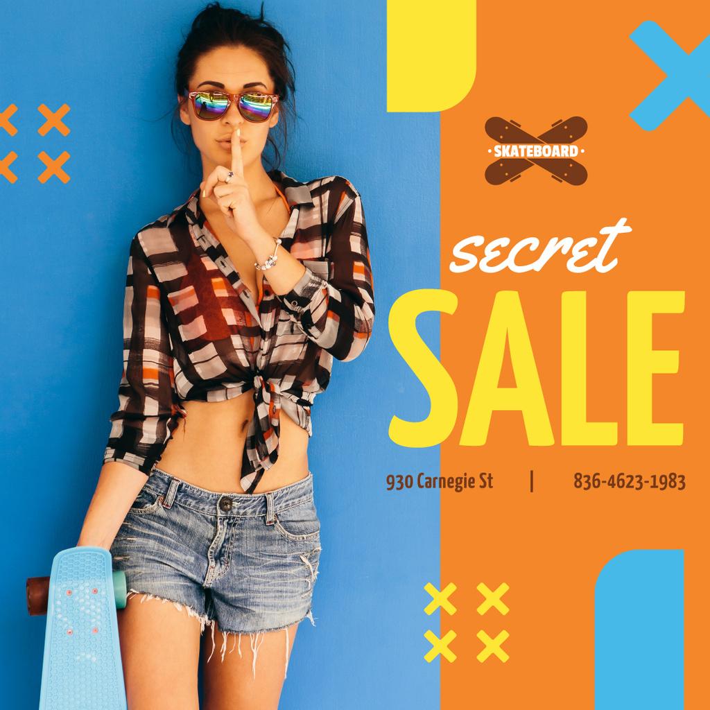 Girl in summer clothes — Create a Design