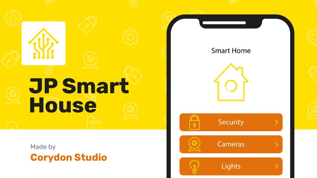 Product Hunt Launch Ad Smart Home App on Screen — Crear un diseño
