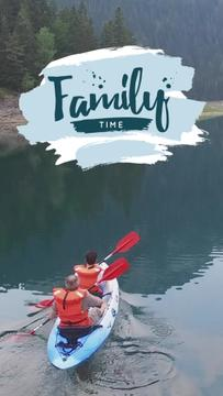 Rafting Tour Invitation with Family in Boat