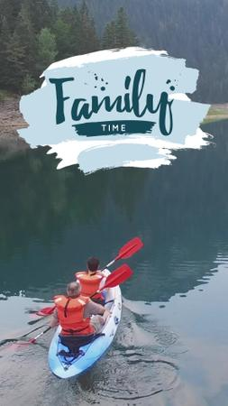 Plantilla de diseño de Rafting Tour Invitation with Family in Boat TikTok Video
