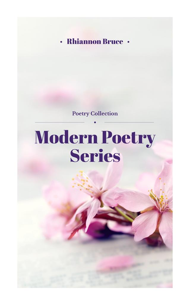Poetry Series Cover Spring Flowers in Pink — Modelo de projeto