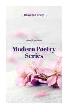 Poetry Series Cover Spring Flowers in Pink | eBook Template