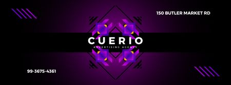 Abstract geometric template in ethnic style Facebook Video cover Design Template