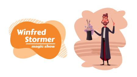 Plantilla de diseño de Show Invitation Wizard Showing Trick Full HD video