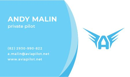 Private Pilot Services Offer Business card Modelo de Design