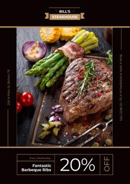 Steak house advertisement