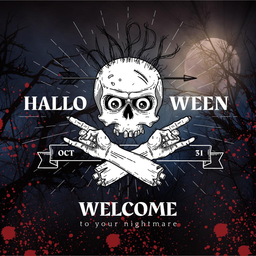 Halloween holiday poster — Créer un visuel