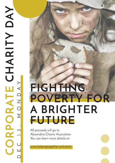 Szablon projektu Corporate Charity Day Poster