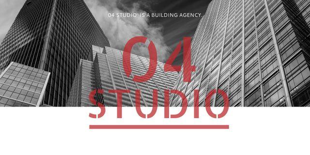 Modèle de visuel Building Agency Ad with Modern Skyscrapers - Image