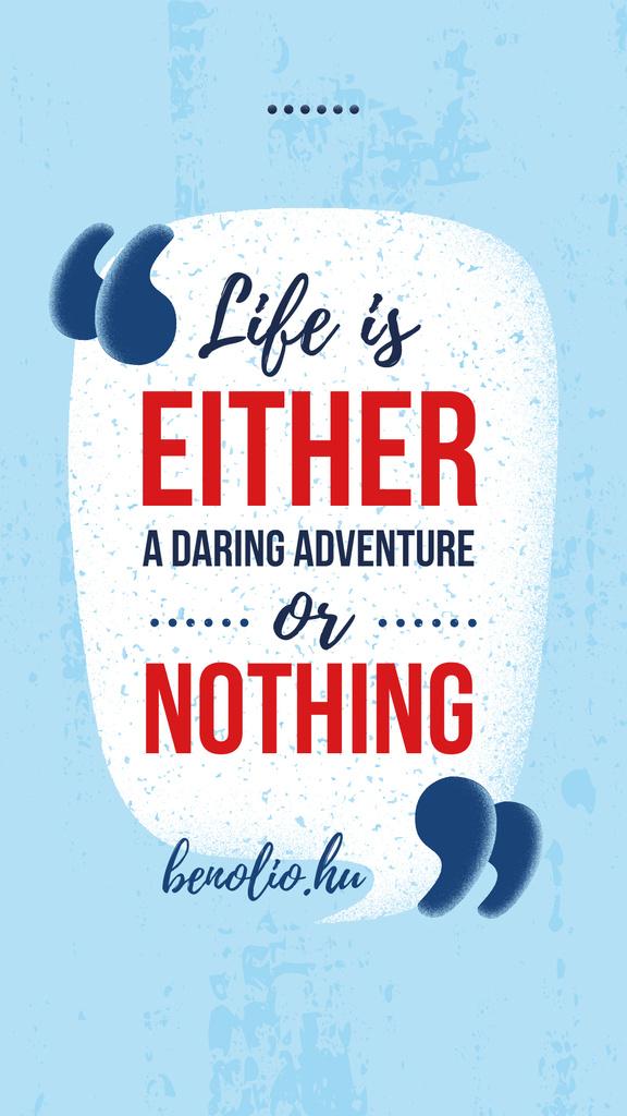 Motivational quotation mark in Blue — Crear un diseño