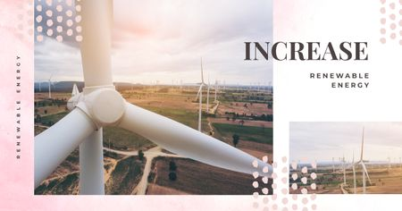 Template di design Wind turbines farm Facebook AD