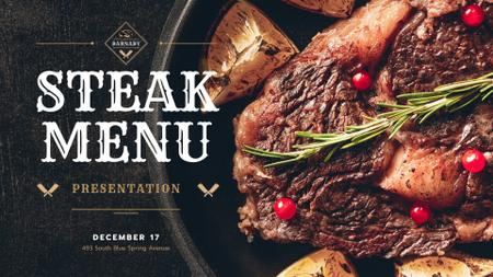 Restaurant Offer delicious Grilled Steak FB event cover Modelo de Design