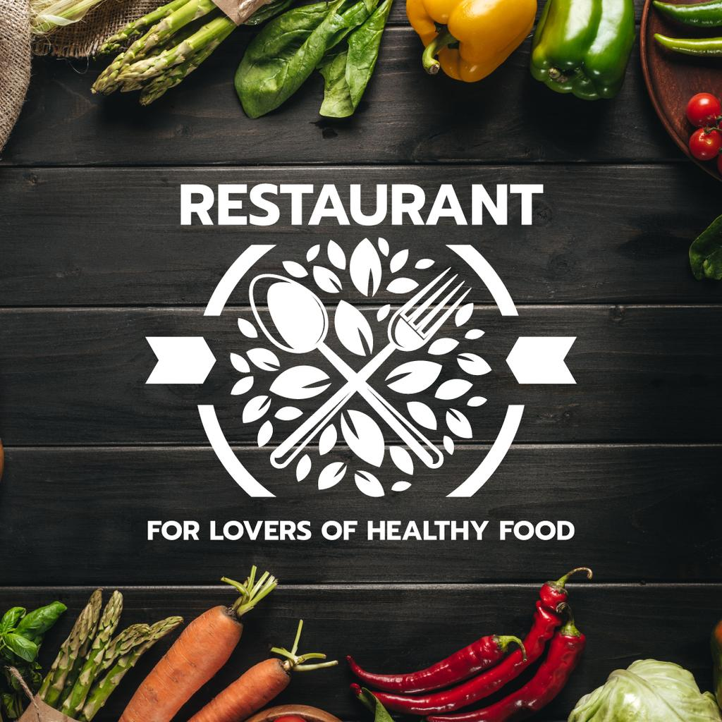 restaurant for lovers of healthy food poster — Modelo de projeto
