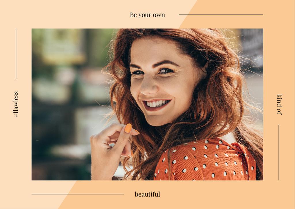 Young smiling woman — Crear un diseño
