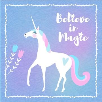 Funny Unicorn with Inspiration quote