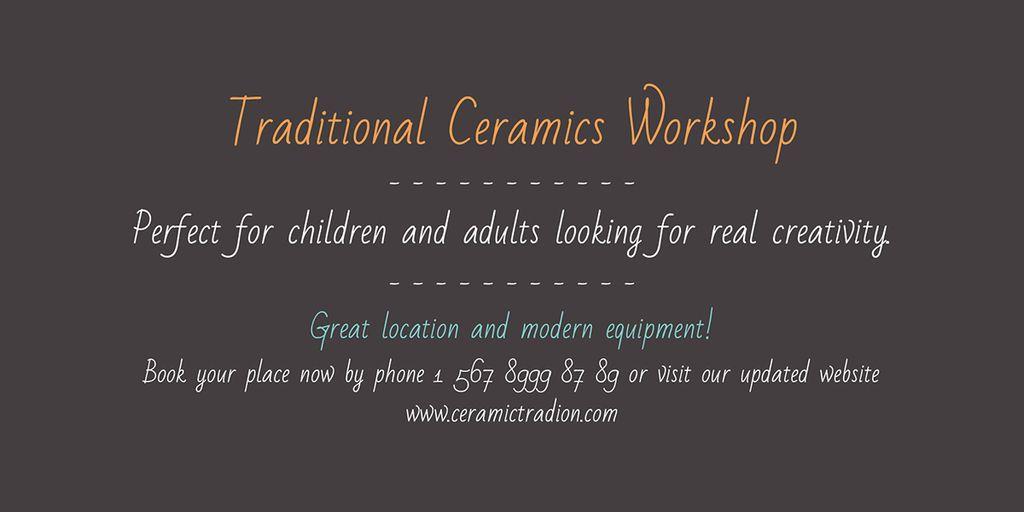 Traditional Ceramics Workshop — Maak een ontwerp
