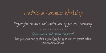 Modèle de visuel Traditional Ceramics Workshop promotion - Image