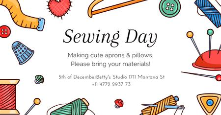 Sewing day event Annoucement Facebook AD Tasarım Şablonu