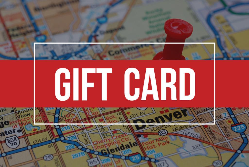 Plantilla Gift card with road map and pin Certificado de regalo ...