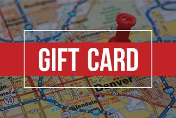 Gift card with road map and pin