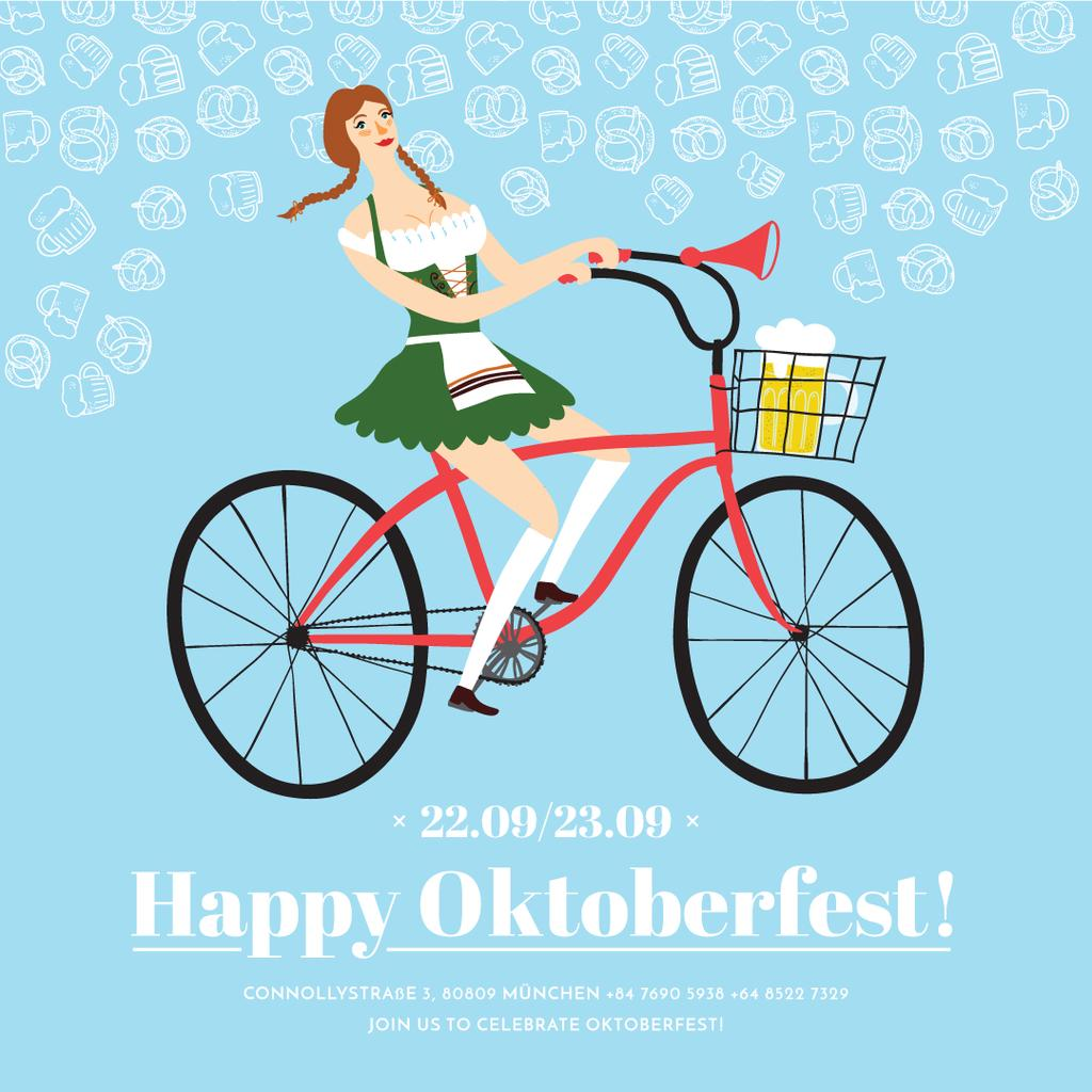 Girl in Oktoberfest costume — Create a Design